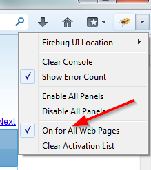 Debugging with firebug